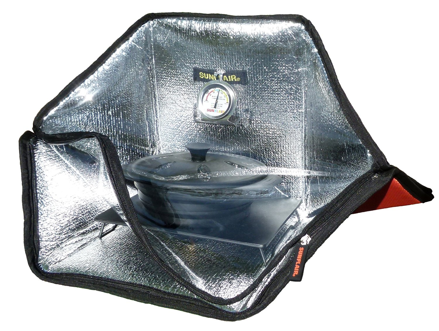 sunflair, solar cooker, solar oven, camping, cooking