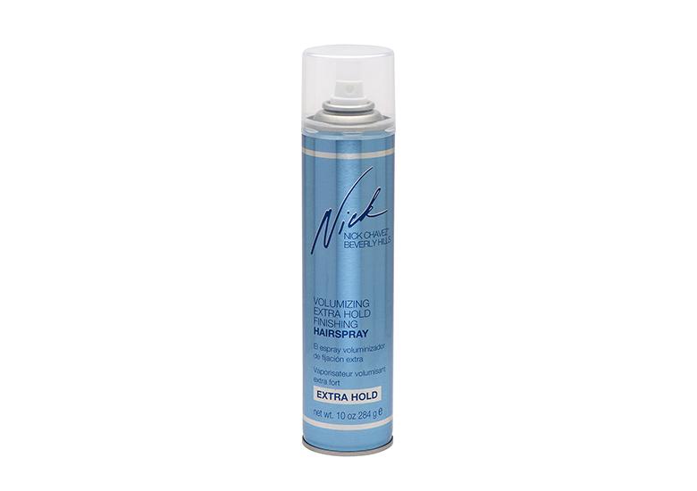 Image of powder blue hair spray can