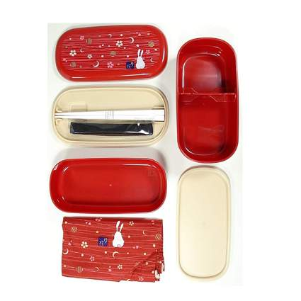 red rabbit moon traditional bento box