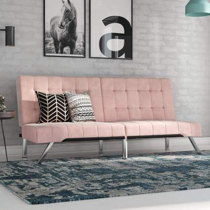 pink futon