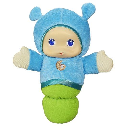 Playskool Favorites Lullaby Gloworm Toy (Blue), huggable night light, plush night light, gloworm night light, nursery night light, best nursery night light, soft night light, portable night light, cute night light, adorable night light
