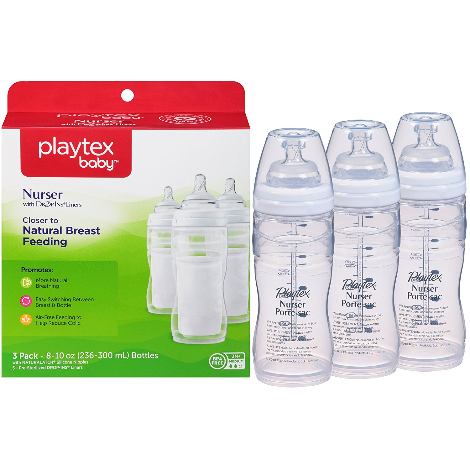 playtex baby nurser baby bottle with drop-ins disposable liners, baby bottles, best baby bottles, plastic baby bottles, affordable baby bottles, baby bottles with liners