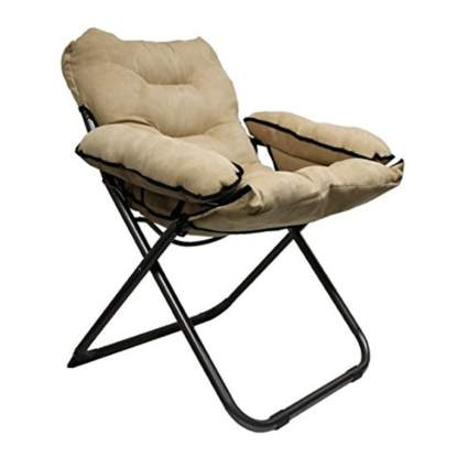 plush padded folding tall dorm chair