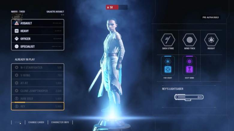 Star Wars Battlefront II, Rey