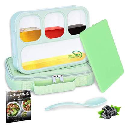 slim bento lunchbox with carrier