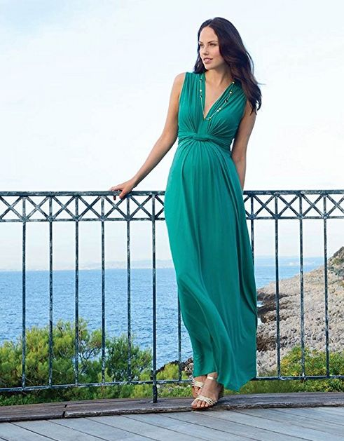maternity maxi dress, seraphine jo knot front maternity and nursing maxi dress, cute maternity outfits, best maternity style, comfortable maternity style, affordable maternity style, best maternity maxi dress, green maxi dress
