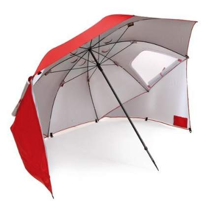 sport-brella, beach umbrella, beach tent, beach, summer