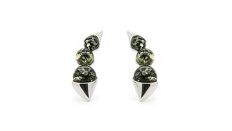 Amber, amber jewelry, Baltic amber, amber earrings, stud earrings