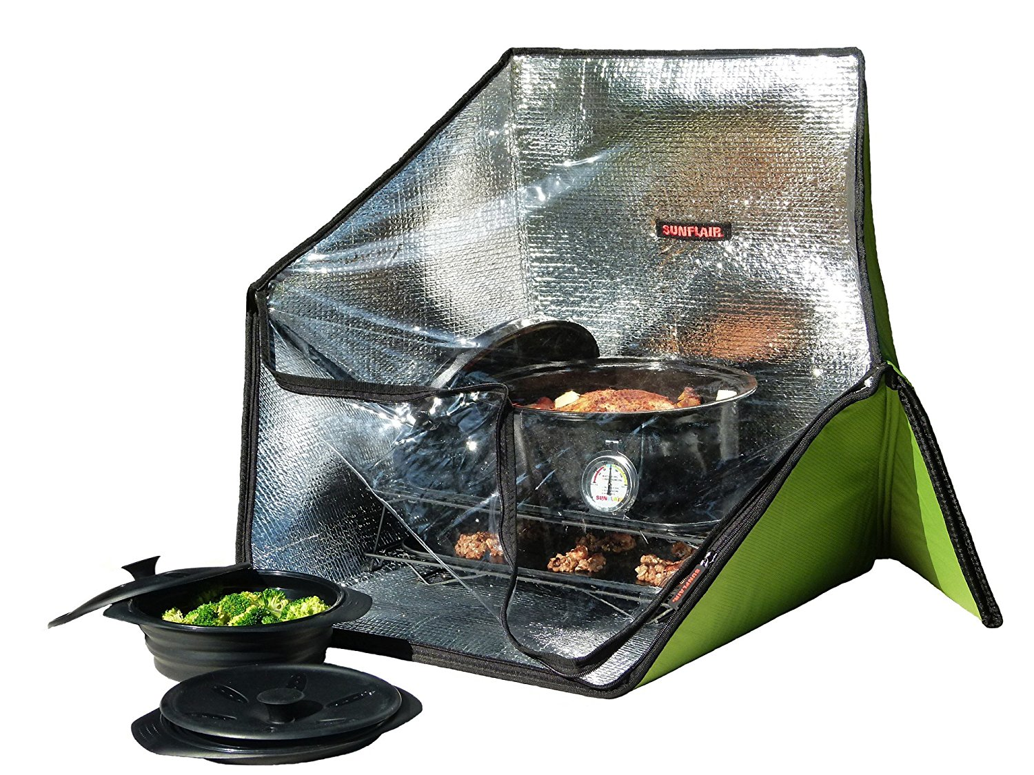 sunflair, solar oven, solar cooker, camping