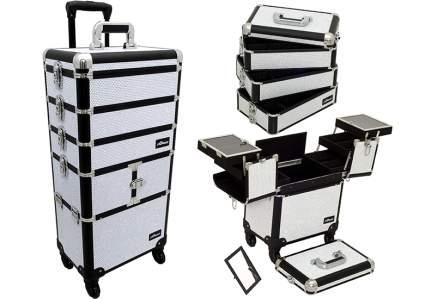 rolling makeup case, makeup trolly, professional makeup case, makeup travel case
