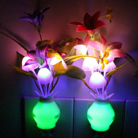 taozi kids plug in night light flowers, flower night light, plug in night light, best nursery night light, nursery night light, led night light, safe night light
