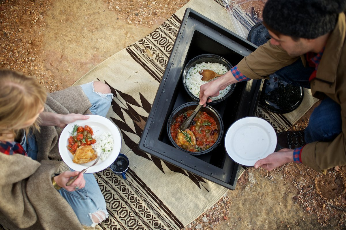 solavore, solar oven, camping, solar cooking, solar