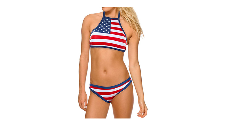 fourth of july outfits, 4th of july outfits, American flag bikini, American flag bathing suit