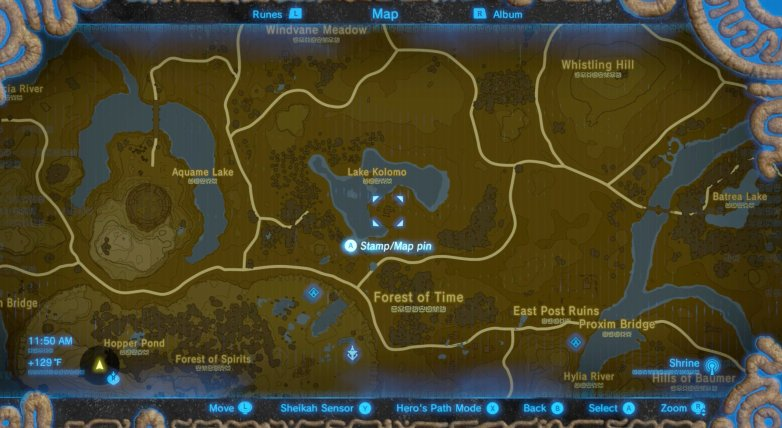 Zelda BotW Mask Map
