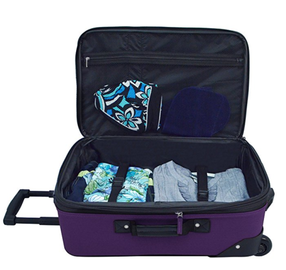 us traveler rio carryon, best carry-on luggage, best carry-on expandable, best rockland carry-on