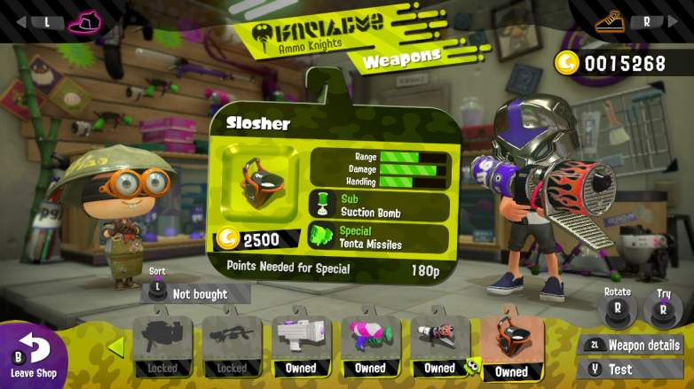 splatoon 2 slosher, splatoon 2 weapons, splatoon 2 best weapons