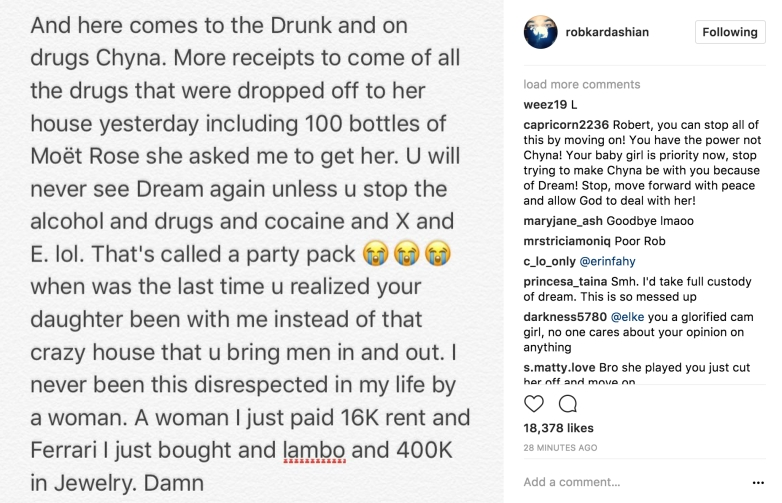 Rob Kardashian Instagram