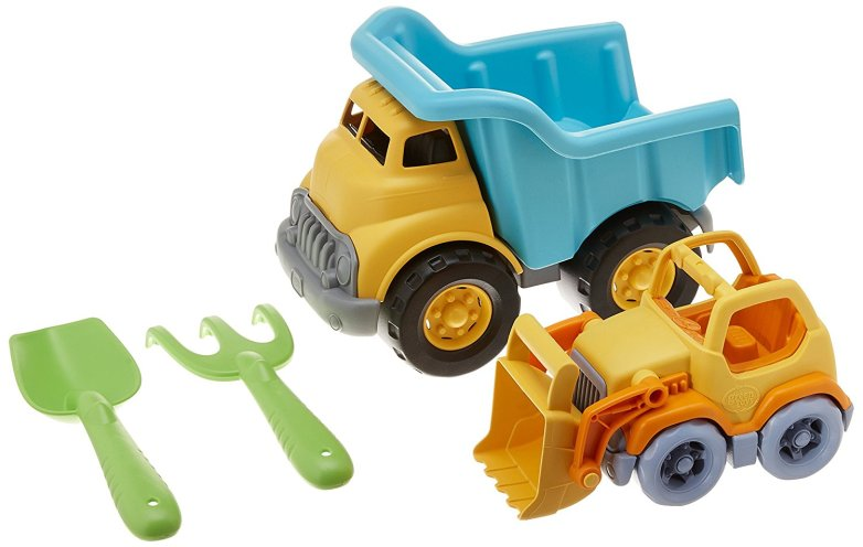 Green Toys Sw Dump Truck with Scooper & Rake/Shovel Toy