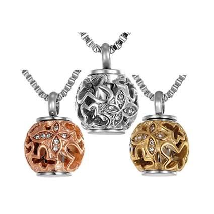 Butterfly bead urn pendant