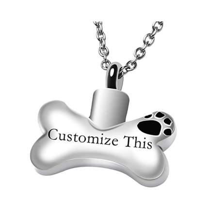 dog bone urn necklace
