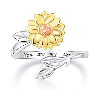 sunflower urn ring