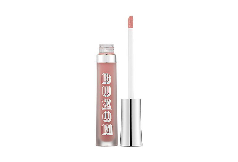 Image of Buxom lip gloss with silver cap and doe foot applicator
