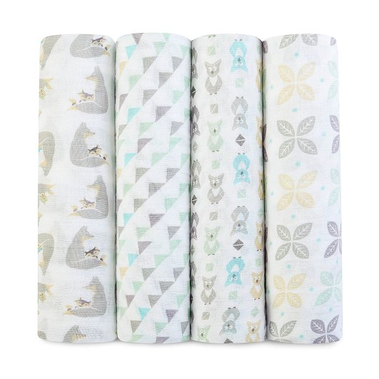 aden + anais Classic Muslin Swaddles (Set of Four), baby swaddle, best baby swaddle, swaddle blanket, muslin swaddle blanket, best muslin swaddle blanket