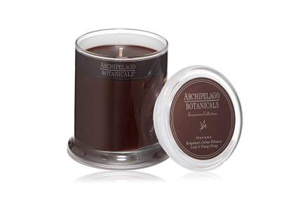 Brown havana candle