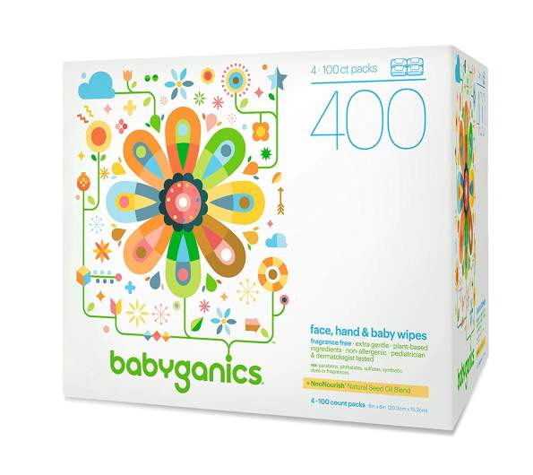 Babyganics Face, Hand & Baby Wipes, baby wipes, best baby wipes, organic baby wipes, natural baby wipes