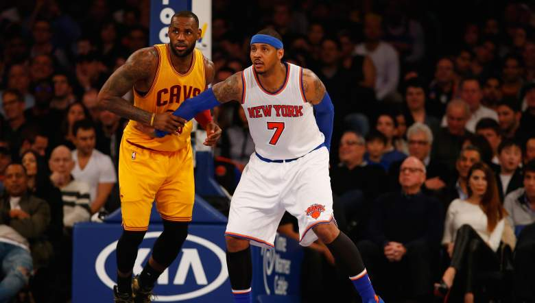cavaliers, updated roster, starting lineup, carmelo anthony, trade, rumors