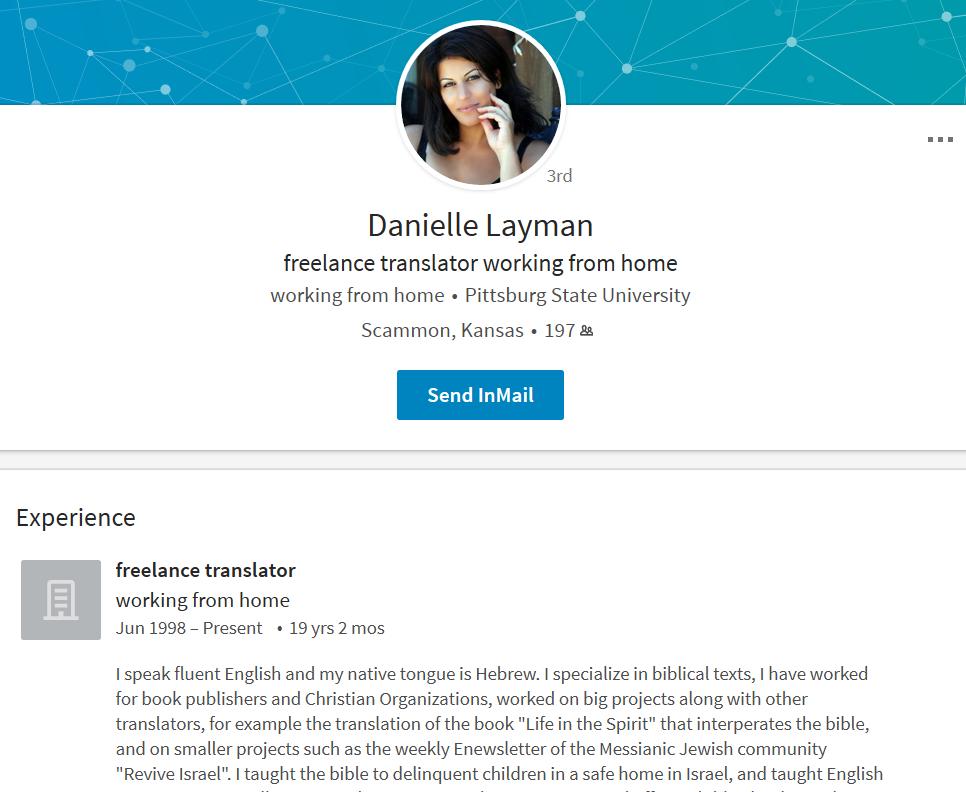 Danielle Layman Linkedin