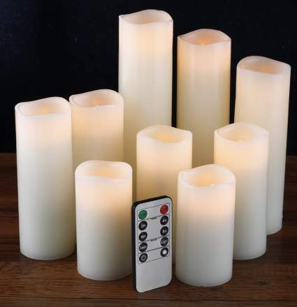 unique candles, flameless candles