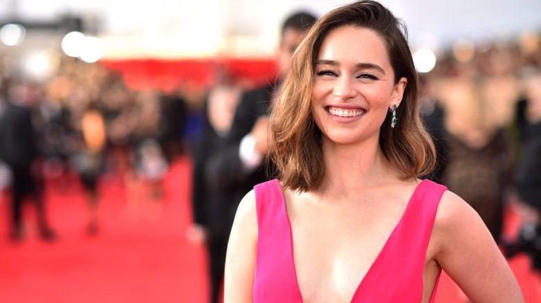 Emilia Clarke red carpet, Emilia Clarke screen actors guild awards, Emilia Clarke screen actors guild awards red carpet