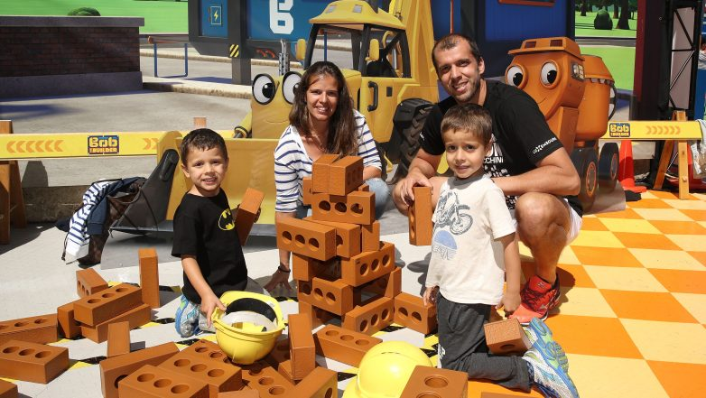 Gilles Muller wife, Alessia Fauzzi Muller, Gilles Muller kids