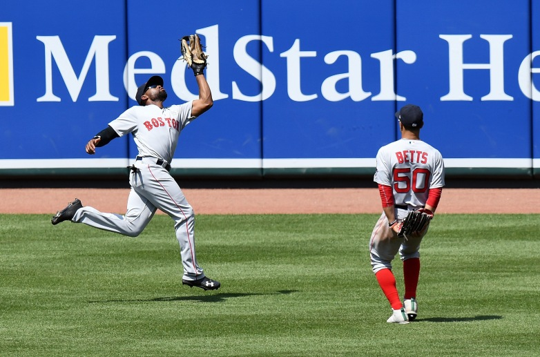 Red Sox outfield, Jackie Bradley Jr, Mookie Betts