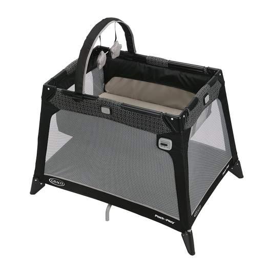 Graco Pack N' Play Playard Nimble Nook (Pierce), travel cot, best travel cot, travel crib, best travel crib, portable crib, travel cot for babies