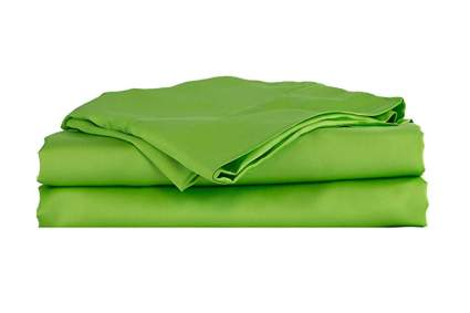 green bamboo viscose sheet set