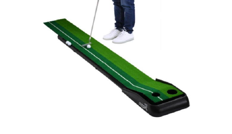 top best indoor putting greens mats with golf ball returns for home office use