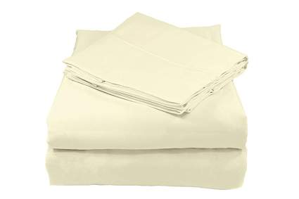 ivory organic cotton sheet set