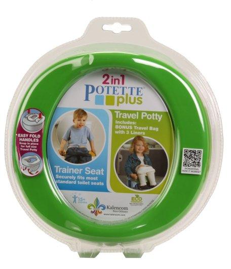 Kalencom Potette Plus Potty and Trainer Seat, potty seat, travel potty, best travel potty, portable potty, best portable potty, affordable potty