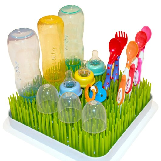 Kuddly Kids Large Lawn Baby Bottle Drying Rack, grass drying rack, bottle drying rack, best bottle drying rack, baby bottle drying rack, affordable bottle drying rack, cute bottle drying rack, lawn bottle drying rack