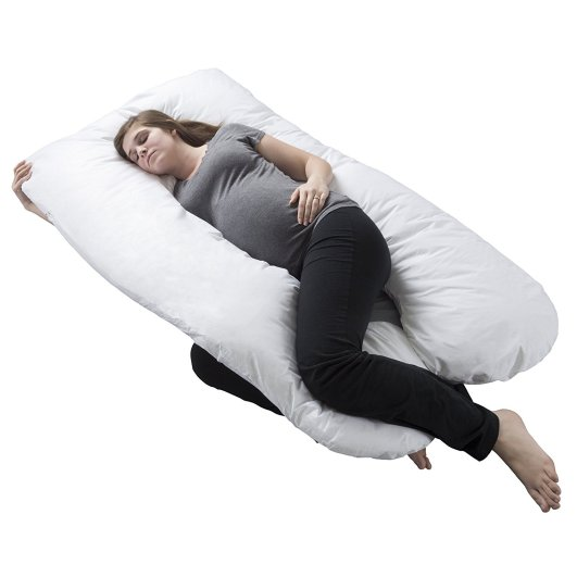 Lavish Home Full Body Maternity Pillow with Contoured U-Shape, u-shaped pregnancy pillow, pregnancy body pillow, best pregnancy body pillow, maternity pillow, maternity body pillow, best maternity body pillow, affordable body pillow, full support pregnancy pillow