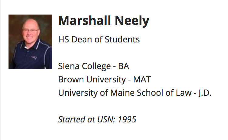 marshall neely university school nasvhille