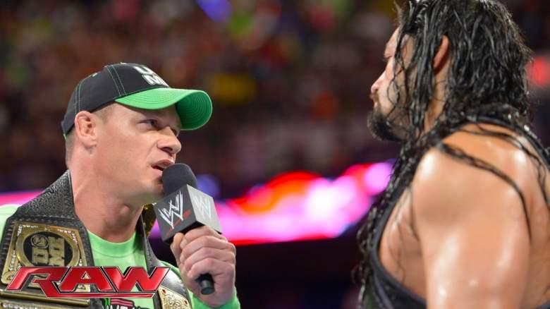 Roman Reigns John Cena, Roman Reigns John Cena raw, Roman Reigns John Cena wwe