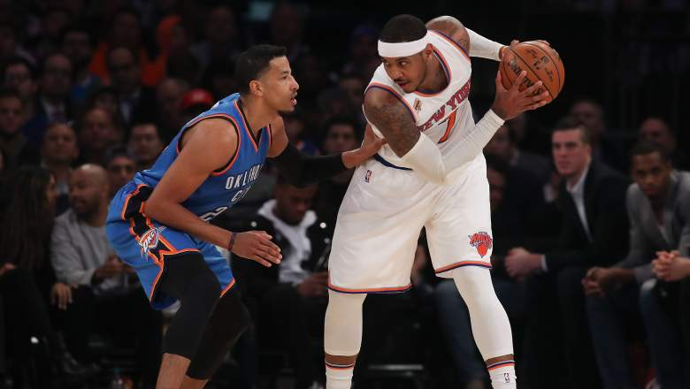 carmelo anthony, thunder, trade, mutual interest, rumors
