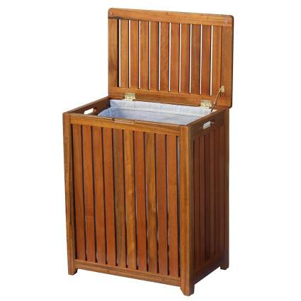 laundry hampers, wood laundry hamper, clothes basket