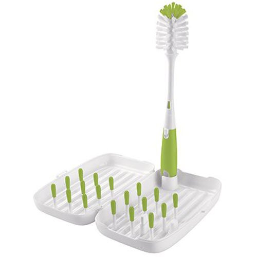 OXO Tot On-the-Go Travel Drying Rack with Bottle Brush, OXO bottle drying rack, travel bottle drying rack, bottle drying rack, best bottle drying rack, baby bottle drying rack, affordable bottle drying rack