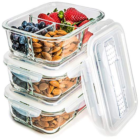 glass storage containers, meal prep container