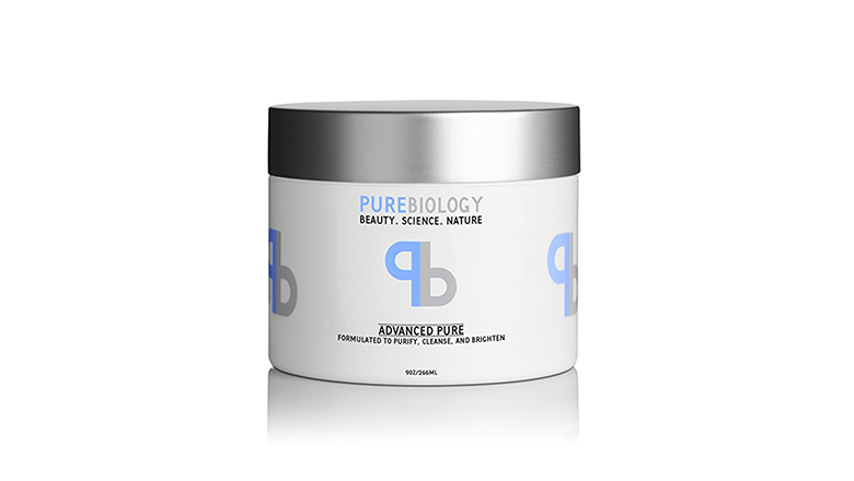 pure biology clay fae mask with pea peptide