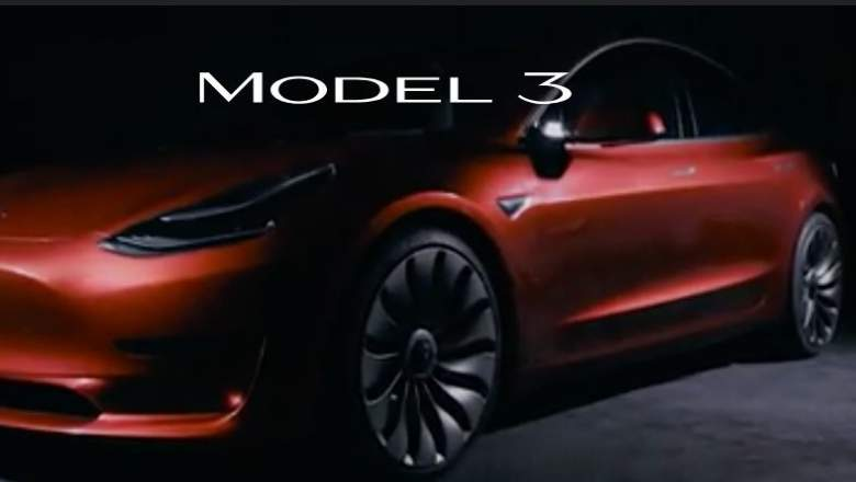 model 3 reveal event time